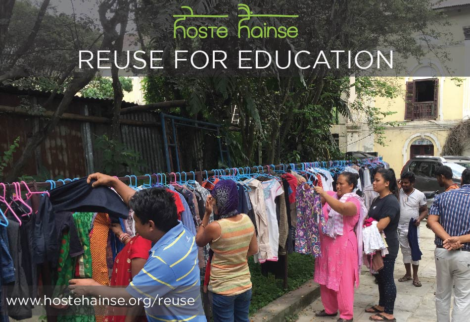 Hoste Hainse Fundraiser - Reuse For Education
