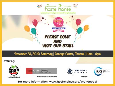 Hoste Hainse @ Brand Nepal Go Local 2019 - December 28, 2019; 11am - 5pm