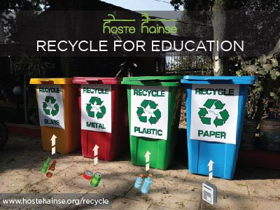 Hoste Hainse Fundraiser - Recycle For Education